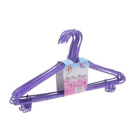 【浙江百货】衣架 金属包漆衣服架 一包十个