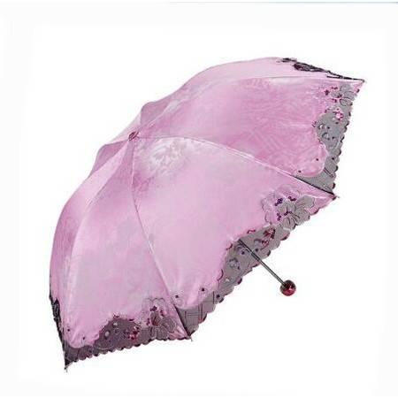 【浙江百货】 天堂伞 纳兰 正品专卖超强防晒防紫外线遮太阳伞折叠清新刺绣