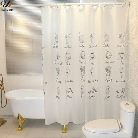 【浙江百货】浴室帘布1.8米*2米