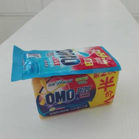 【浙江百货】 奥妙无磷超效洗衣皂206克*2块 送30g洗衣液