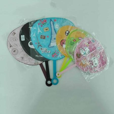 【浙江百货】卡通小扇子 儿童塑料扇,小号4把,中号3把