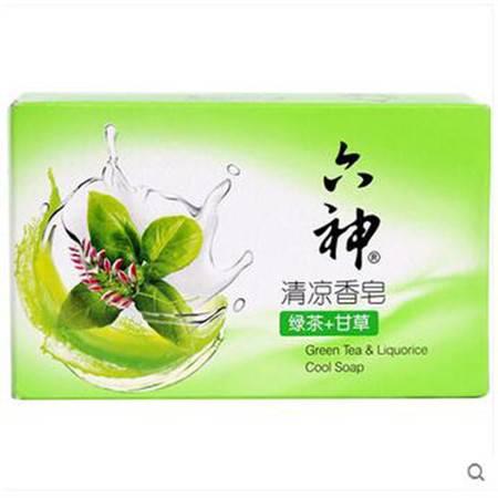 【浙江百货】 六神六神清凉香皂(绿茶+甘草)