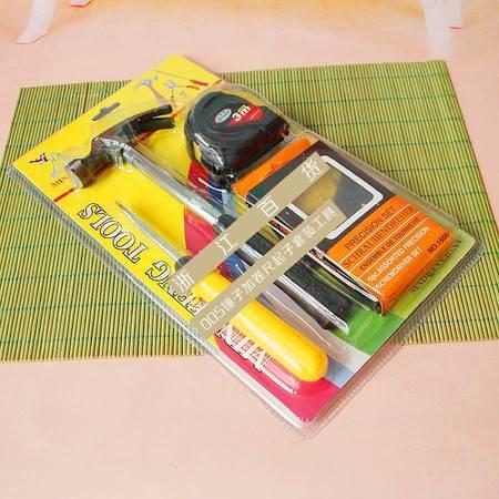 【浙江百货】 005锤子加卷尺起子套装工具F3469    LH
