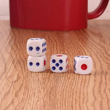 【浙江百货】 4粒麻将色子 骰子筛子 点数骰子塑料骰子 F120