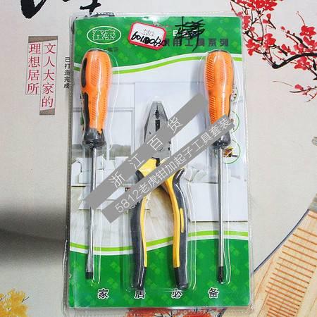 【浙江百货】  5812老虎钳加起子工具套装F3468   LH