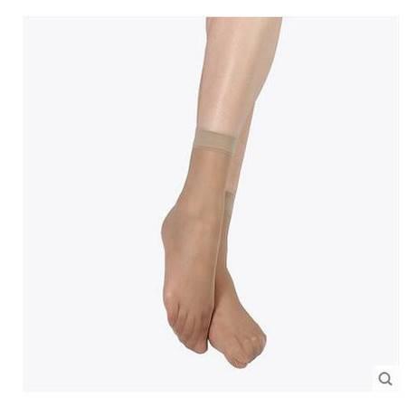 【浙江百货】慈善超市  薄款短丝袜 长平口短袜 35D 10双
