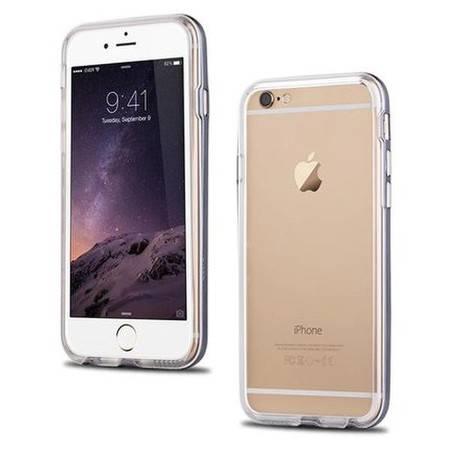 机乐堂iphone6手机壳硅胶苹果6保护套透明边框4.7寸iPhone6防摔套