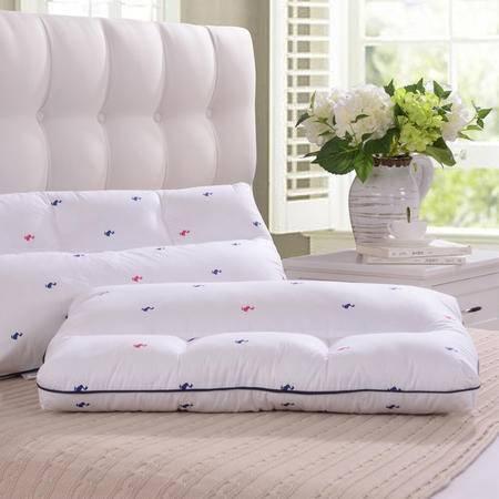 际华家纺  羽丝两用枕全棉印花纤维枕头防压扁枕多功能枕芯