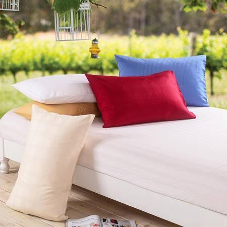 际华家纺 高支高密外贸枕套单人枕头套1只装颜色随机