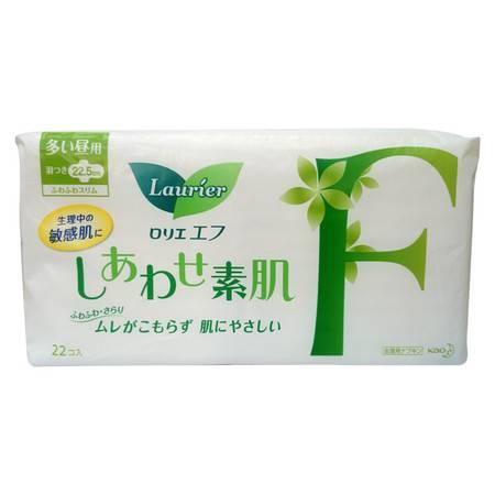 花王乐而雅超安心F系列卫生巾量多日用护翼型 22片