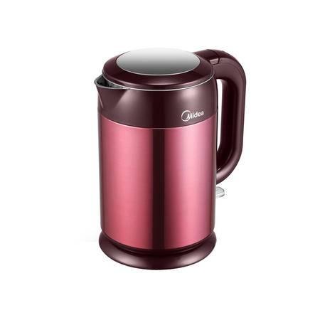 Midea/美的 电水壶H317E4a 双层保温防烫 1.7升全钢电热水壶 自动断电烧水壶