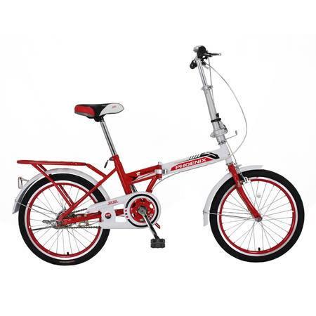 凤凰(Phoenix)20寸男女通用 上班 学生旅行/代步 折叠自行车律动 白红、白蓝、白紫三色可选
