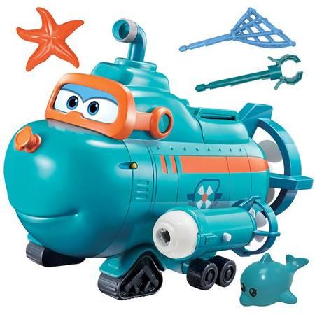 奥迪双钻 超级飞侠儿童玩具场景系列超级飞侠威利声光潜水艇 730809