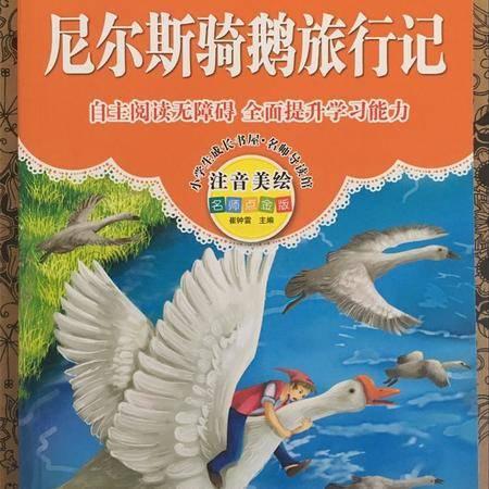 小学生成长书屋《尼尔斯骑鹅旅行记》注音美绘自主阅读无障碍图书籍