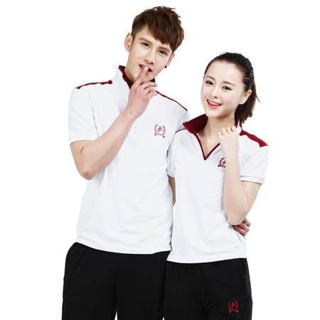 竞技龙夏季男女情侣款舒适透气短袖长裤跑步运动套装 T13362
