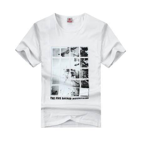 竞技龙 男款运动T恤 舒适圆领短袖 TX13359