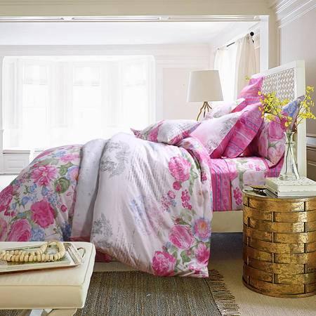MLK_美式乡村系列全棉4件套床上用品四件套被套床单枕套-恋爱未满