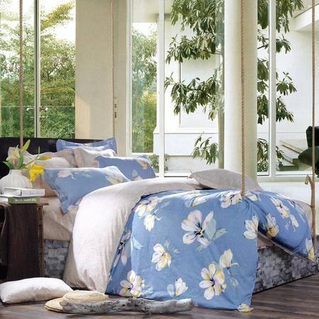 MLK_美式乡村系列全棉4件套床上用品四件套被套床单枕套-靓丽花姿