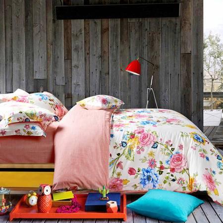 MLK_床上用品全棉4件套全棉四件套被套床单枕套-巴黎清晨