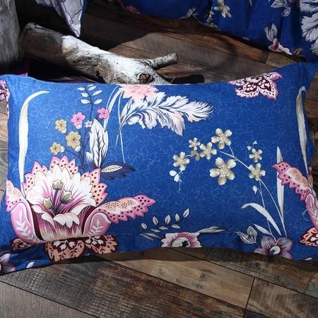 MLK_美式乡村系列全棉4件套床上用品四件套被套床单枕套-蓝调倾城