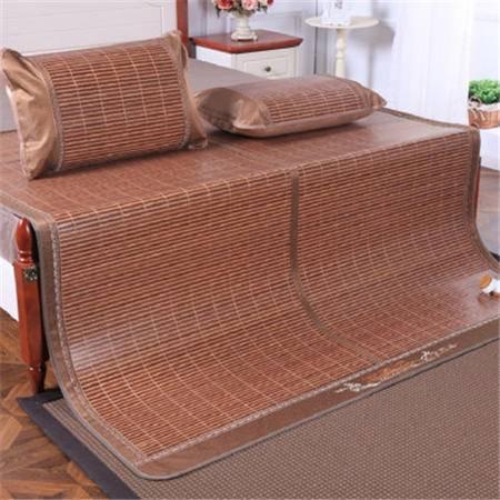龙红 安吉竹凉席新款木纹席子双面折叠凉席1.5 1.8米高档竹席(送一枕套) 一帘幽梦