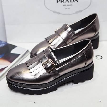 莫蕾蔻蕾/Moolecole 春款韩版中跟休闲单鞋 时尚单鞋低帮鞋 6C005