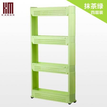 kaman 夹缝收纳整理架 可移动厨房收纳架冰箱侧边多功能塑料角架