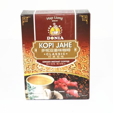 印尼多呢亚姜味女生咖啡暖宫暖胃原汁原味200g(20g*10包)