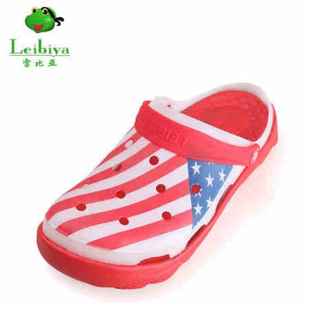 雷比亚2016正品国旗夏季凉鞋男士洞洞鞋日常休闲镂空沙滩鞋男凉鞋