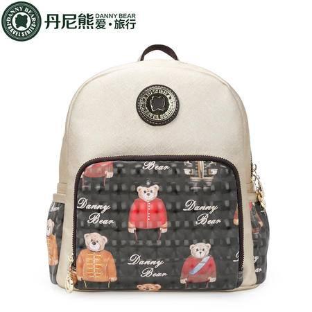 丹尼熊小双肩包背包学生书包 复古英伦学院风军官熊DBTB596084