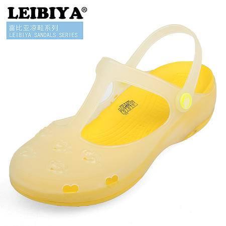 雷比亚爆款时尚甜美纯色潮日常休闲沙滩洞洞鞋