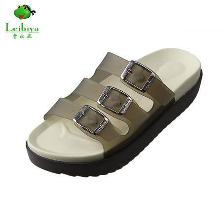 雷比亚夏季新款拖鞋女厚底女式时尚休闲欧美平跟鞋女鞋