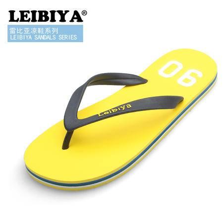 雷比亚热卖绅士人字拖男夏拖鞋沙滩拖防滑男士英伦风平底树脂男鞋lby0108