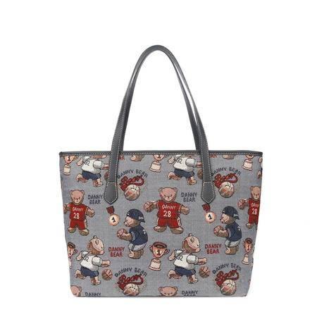 丹尼熊单肩包袋女士大容量托特包 新款休闲布包篮球熊DBWB166063