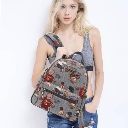 丹尼熊双肩包背包男女 新款休闲个性背包书包篮球熊DBWB166059