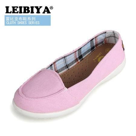 雷比亚行货单鞋纯色平底低跟帆布鞋学院风休闲女韩版学生潮鞋