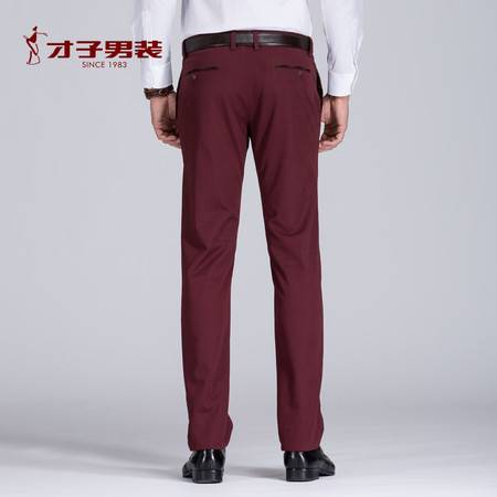 才子男装冬季新品男士保暖休闲裤 时尚都市加厚加绒修身长裤