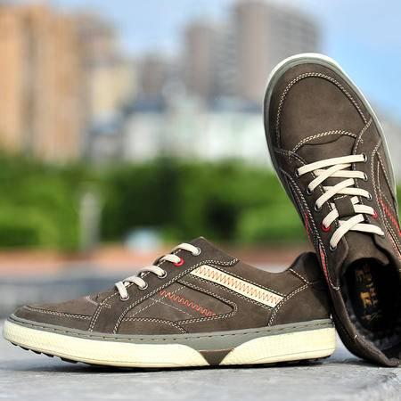 才子男鞋英伦商务休闲鞋男士真皮鞋子磨砂潮鞋秋季时尚潮牌板鞋男