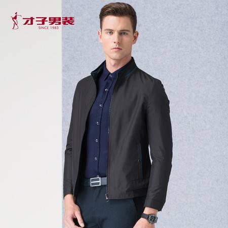 才子 2016秋季新品男装两面穿时尚立领夹克男青年外套