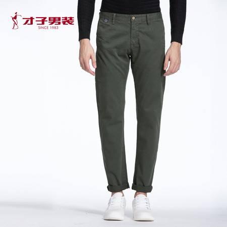 TRiES/才子2016年商场同款时尚流行军绿色休闲裤