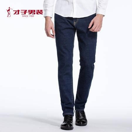 【商店同款】TRiES/才子男装秋冬新品男士加厚微弹中腰青年牛仔裤