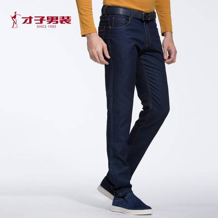 TRiES/才子男装2016秋季新款男士青年舒适牛仔裤青春流行百搭长裤