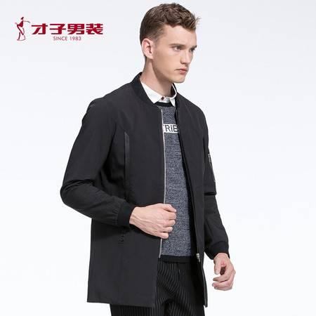 【商场同款】TRiES/才子男装2016秋冬新立领涤纶青年两色风衣外套
