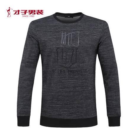 【商场同款】TRiES/才子男装2016秋季青春长袖圆领修身休闲T恤衫
