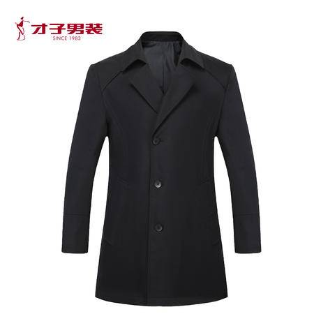 TRiES/才子男装2016秋冬新款男士青年舒适百搭黑色夹克jacket外套