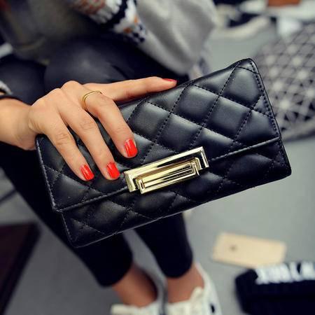 多卡位韩版时尚长款女士钱包钱夹小香风欧美2016新款钱包手拿包