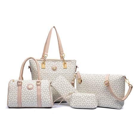 包包2016春季新款潮流子母包六件套欧美时尚女士手提包单肩包女包