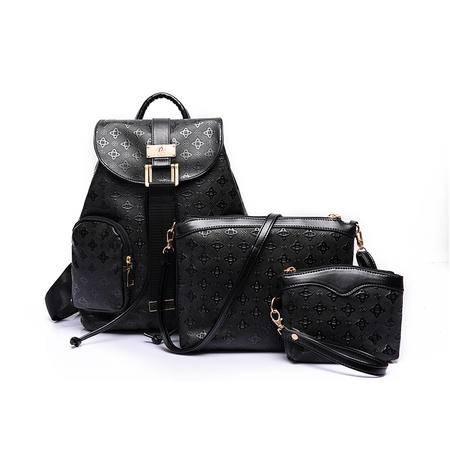包包2016春季新款双肩包三件套子母包女包背包学生包欧美时尚女包