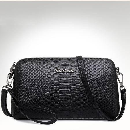 UKUK/优客优可女士小包包单肩包斜挎包欧美时尚鳄鱼纹女包休闲包