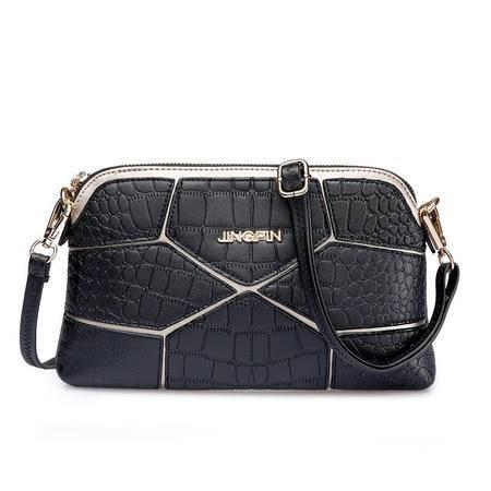 包包2016夏季新款菱格拼接女士单肩包斜挎包欧美时尚小包包几何包